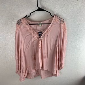 Forever 21 NWT Pink Blouse lace small